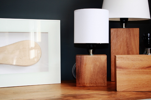 Sietecuatrocuatro lamparas de madera de guinea - Lamparas de madera ...