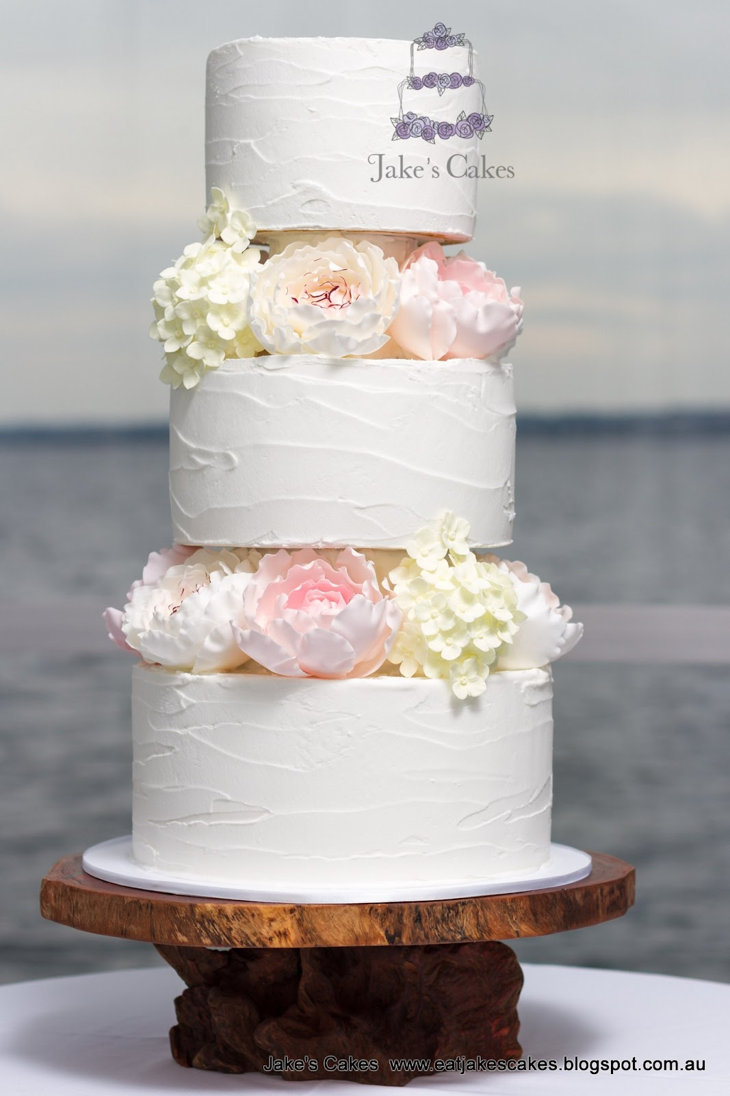 Jake\'s Cakes: Rustic Romantic Wedding Cake for Natasa