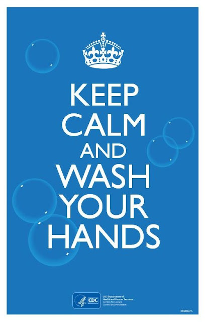 keep calm and wash yours hands