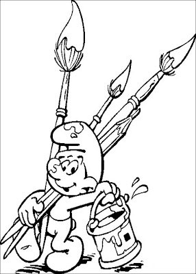 Smurf Coloring Pages,Smurf