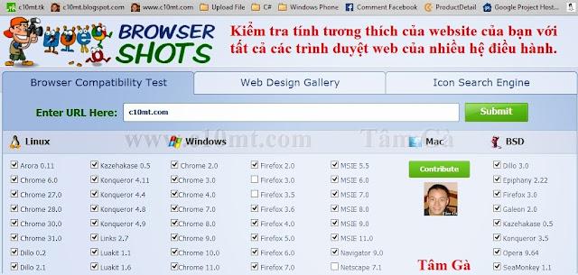 Browsershots - Ping website online tới 200 trình duyệt
