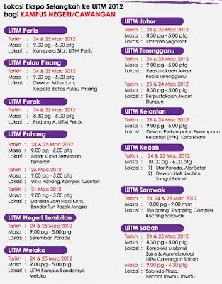 Lokasi Ekspo Selangkah Ke UiTM 2012
