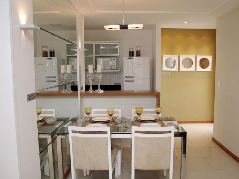 Espelho Para Sala Pequena ~ Dicas para Decorar Sala de Jantar Pequena  Cores da Casa