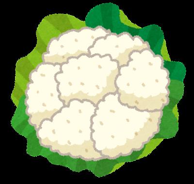 カリフラワーのイラスト(野菜)