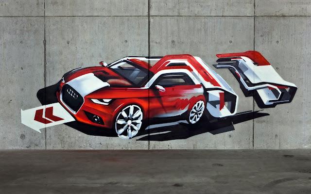 Imágenes de Graffitis de Carros en 3D