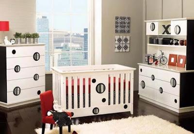dormitorio bebé blanco y negro