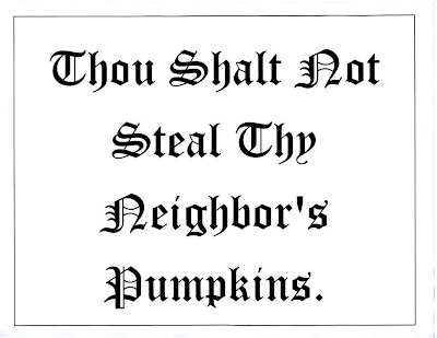 BYOP = Bring Your Own Pumkins