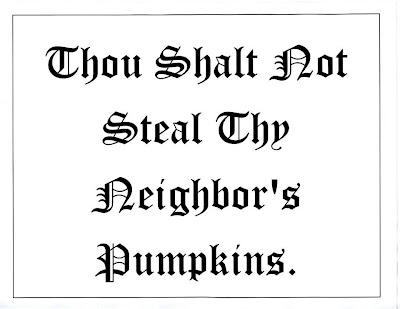 BYOP = Bring Your Own Pumkins