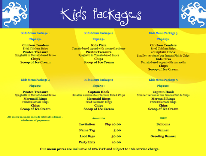 Kids Birthday Party Packages