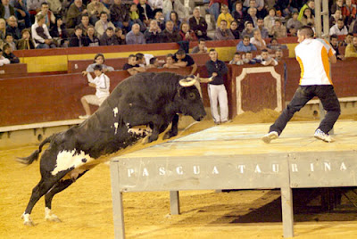 El toro Ratón in de aanval
