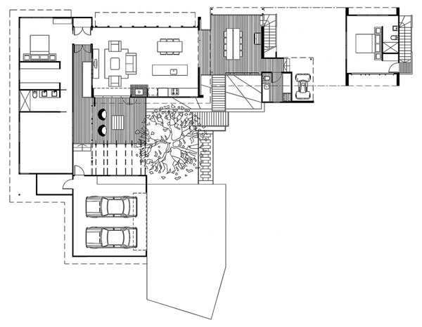 Architecture Corner  Amazing Home  Storrs Road Residence by Tim    Floor plan of Storrs Road Residence