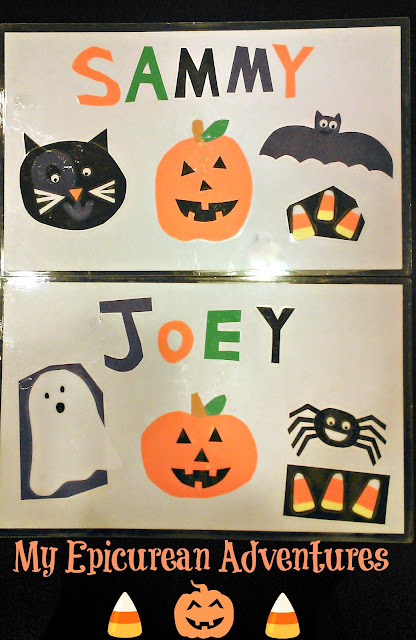 My Epicurean Adventures: DIY Halloween Place Mats