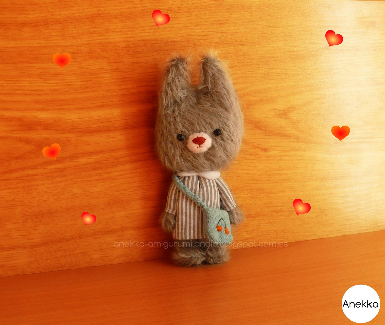 mohair bear anekka handmade