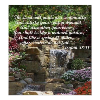 promesa bblica uctu vida ser como un jardn bien regadoud