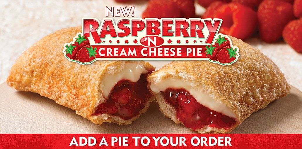 Popeyes also has a new Raspberry 'N Cream Cheese Pie , which is a deep ...
