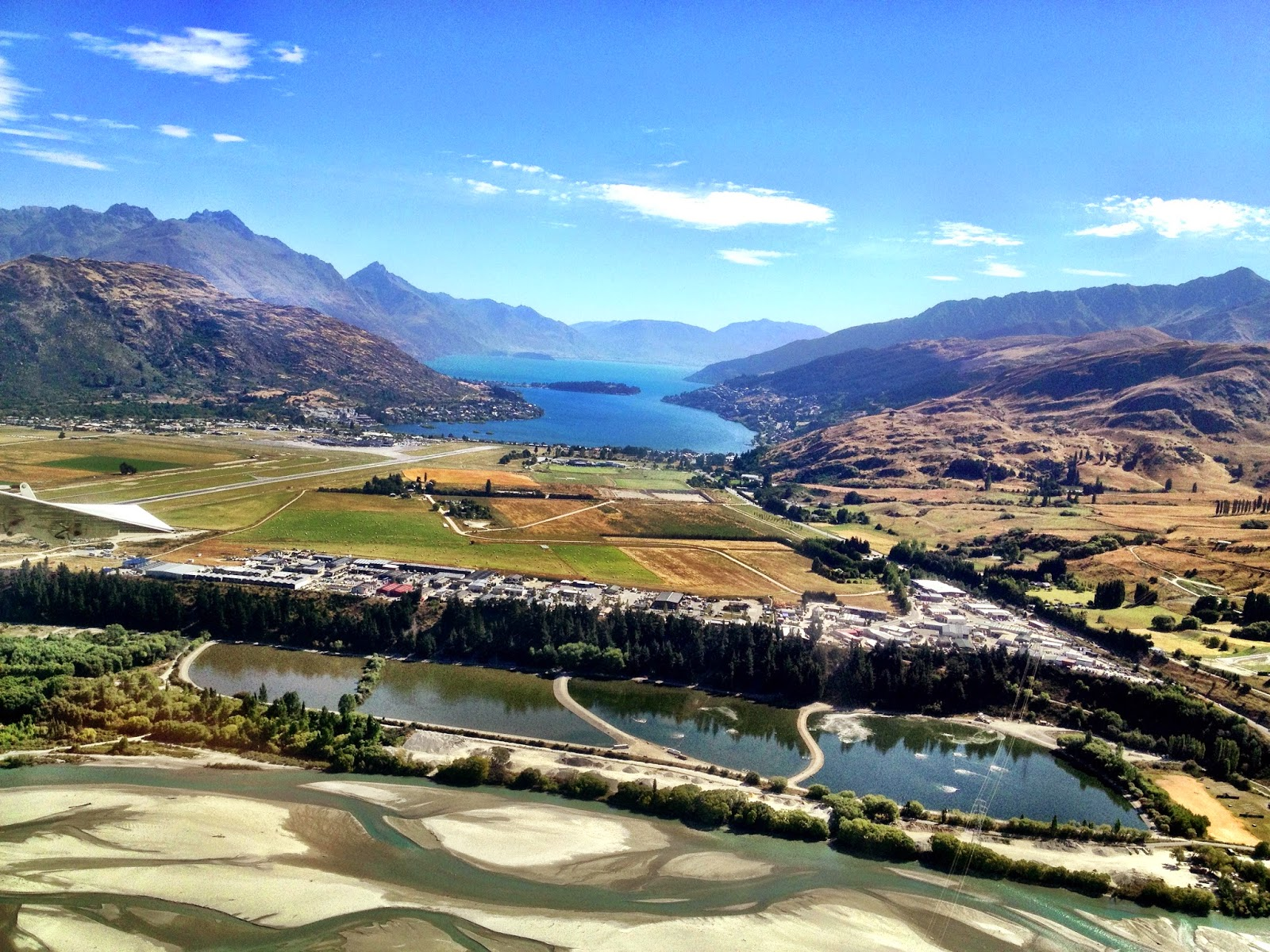 Queenstown Airport approach, New Zealand