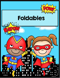 Multiplication Superheroes Interactive Foldables