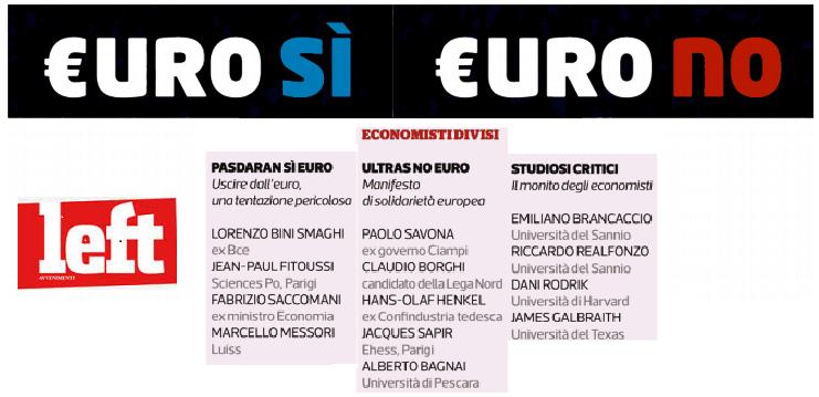 """Sì euro, no euro e quelli del """"monito degli economisti"""""""