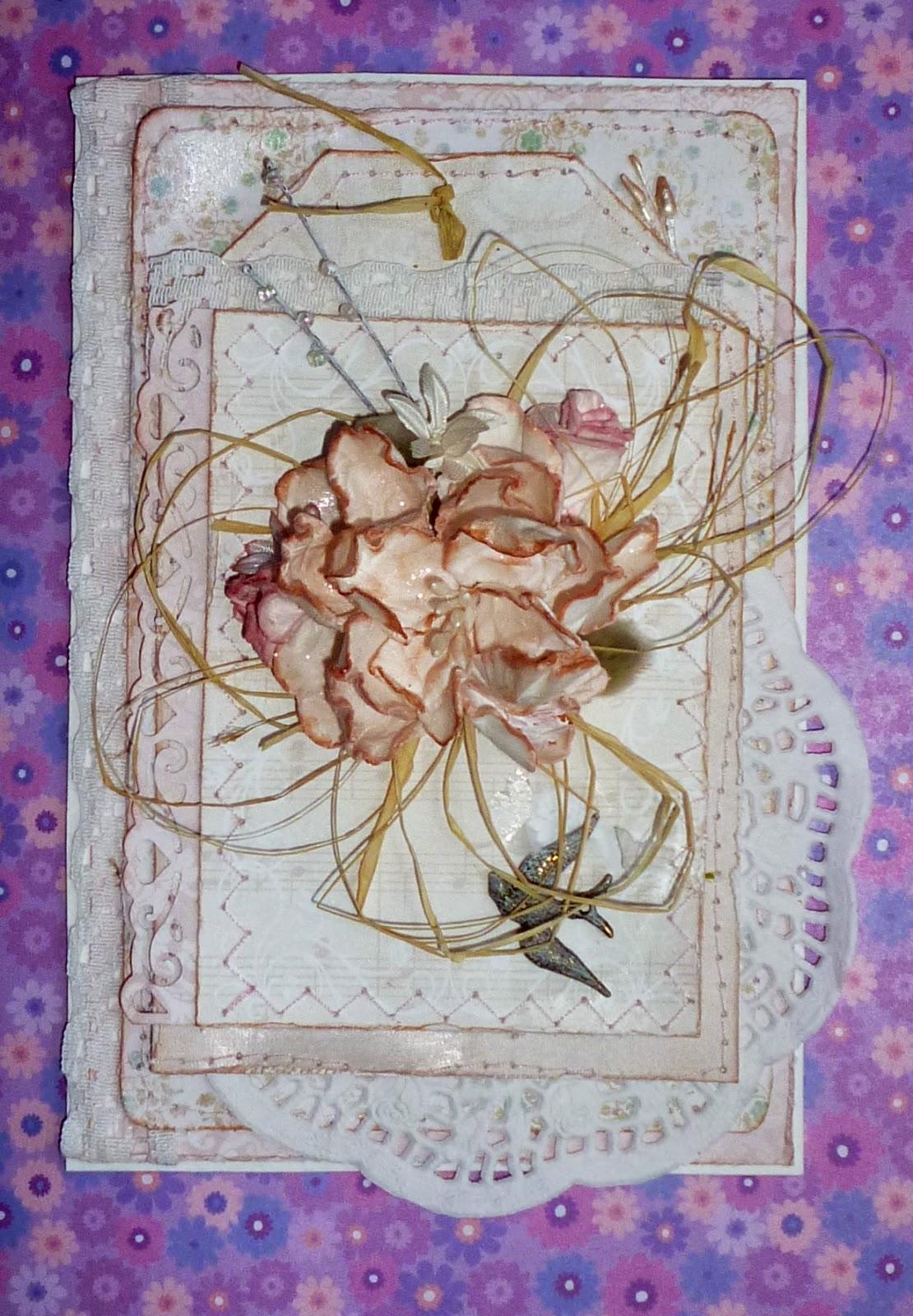 открытка цветы подарок