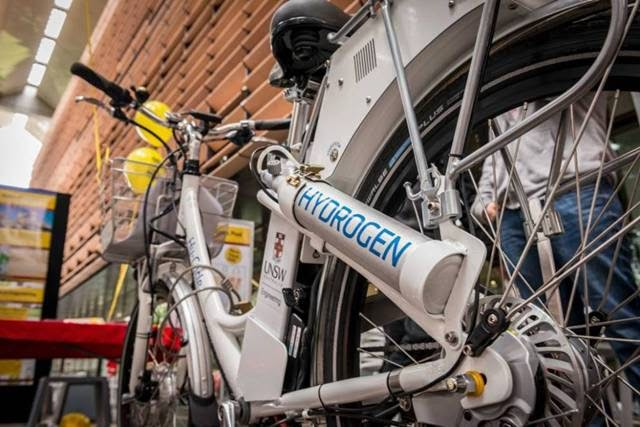 Bicycling on Hydrogen Fuel