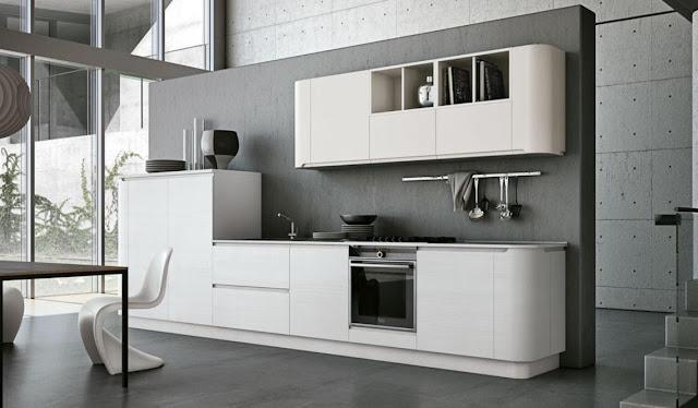 Muebles de cocina de bordes curvos y ondulantes cocinas for Cocinas rectas modernas