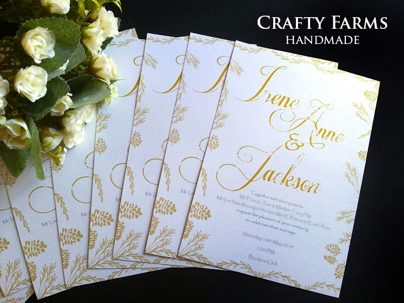 rustic gold wedding flat card printing and design