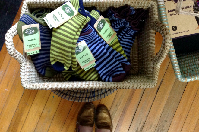 striped socks fair trade