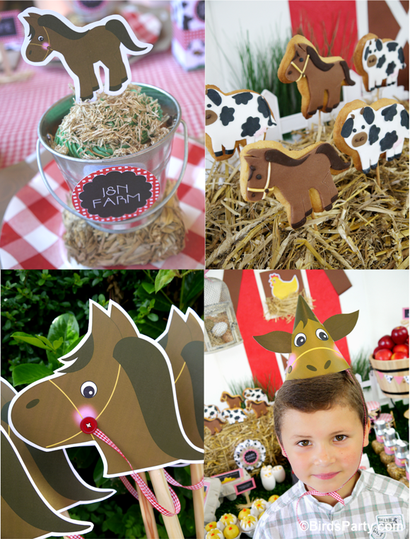 Farm 1st birthday party part 1 kids lunch table drink for Animal party decoration
