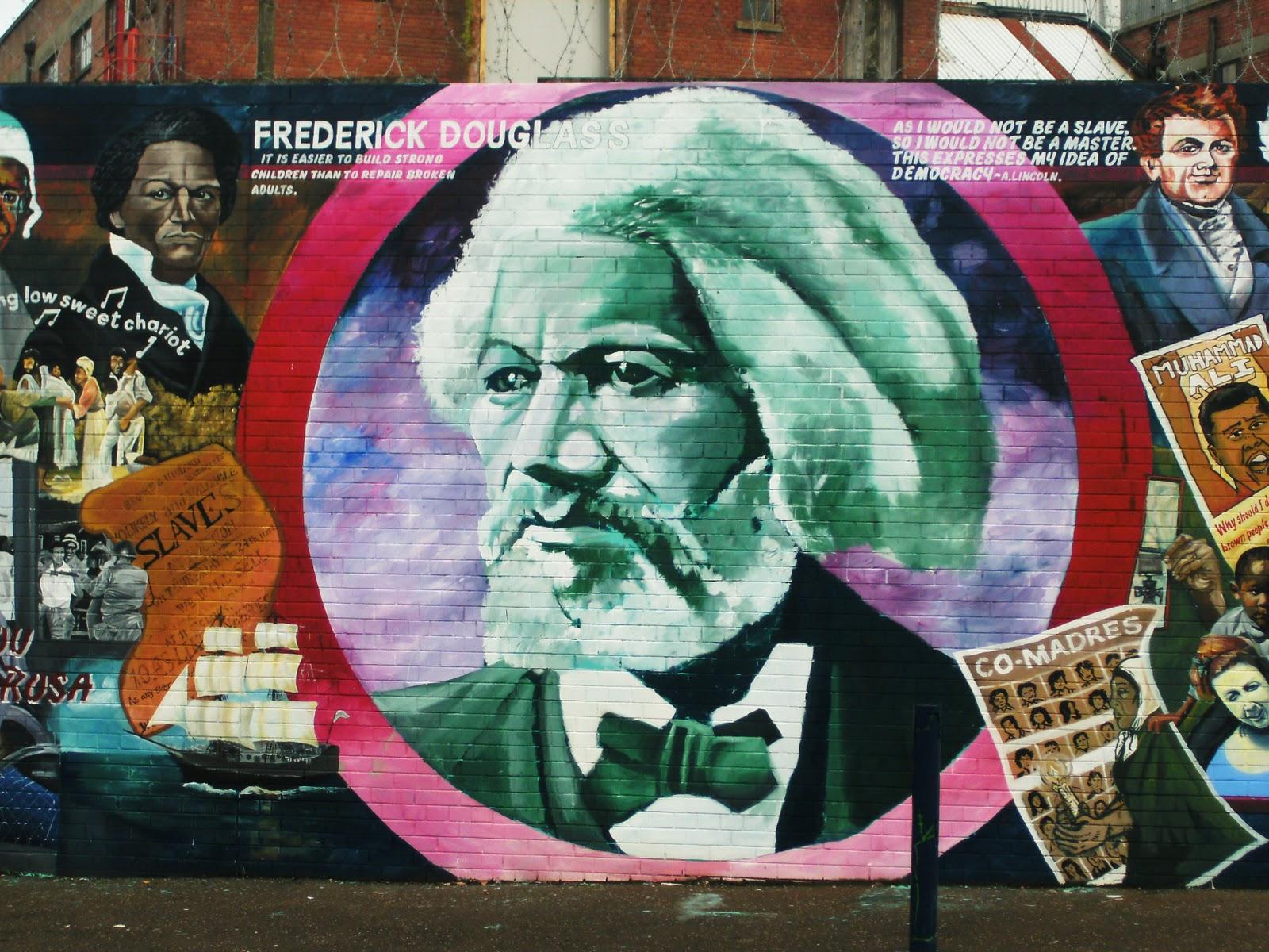 Frederick douglass in progress douglass in belfast for Black history mural