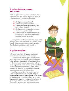 Apoyo Primaria Español 5to grado Bloque IV lección 11 Escribir una obra de teatro con personajes de textos narrativos