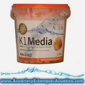 MATERIAL FILTRANTE KALDNES K1 ESTANQUES 25 litros