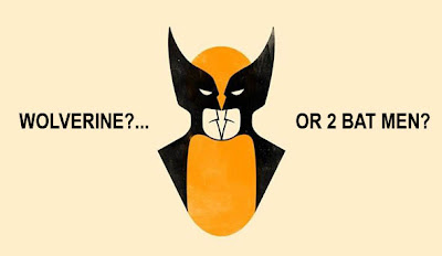 Hidden Bat Men in Wolverine Illusion