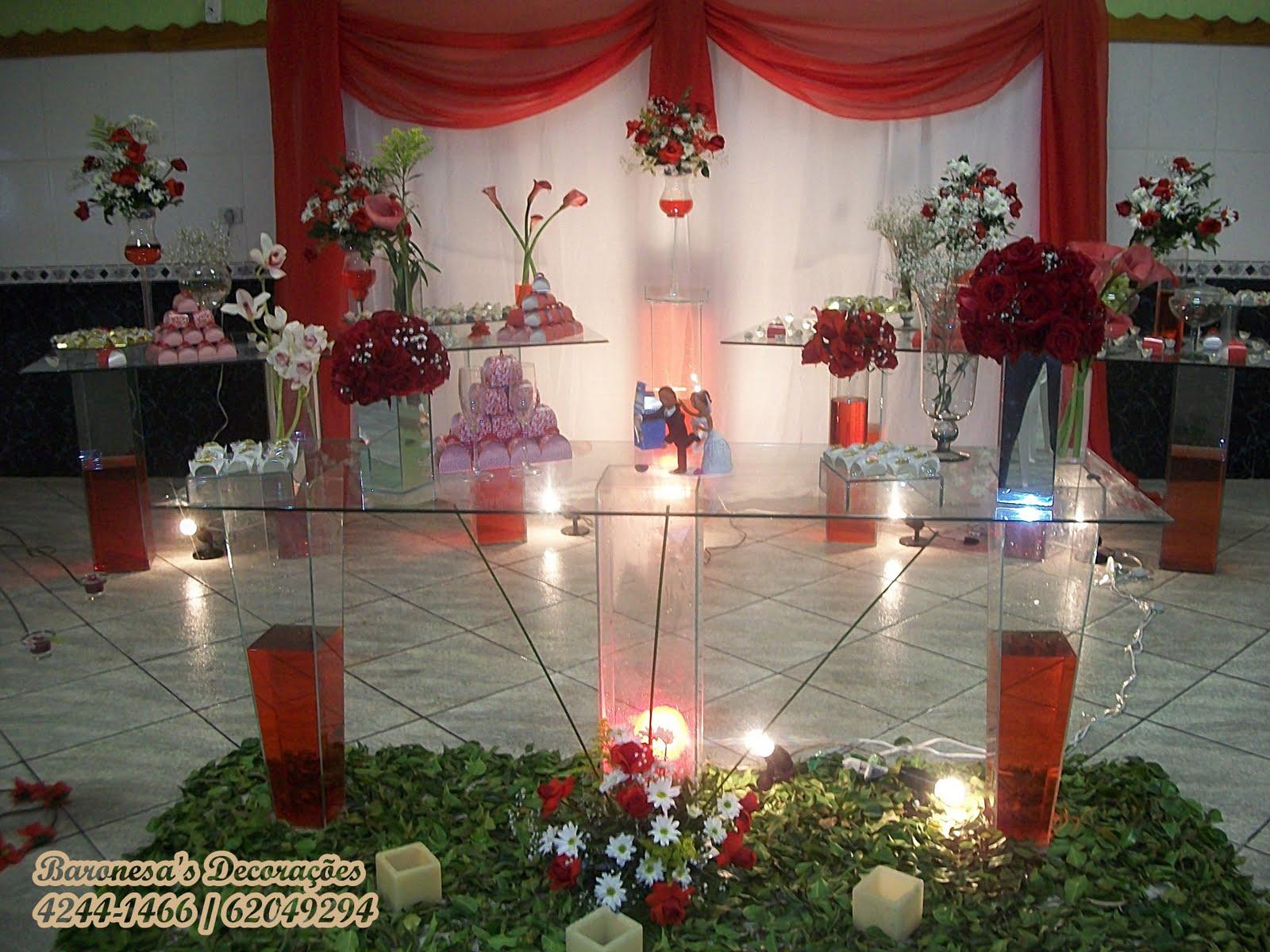 decorações de festas Decoração Casamento Vermelho e Branco