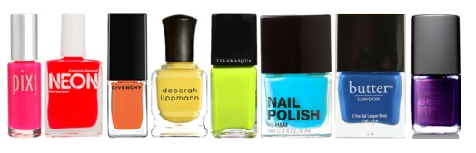 bright nail polish from givenchy and deborah lippmann