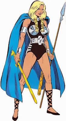 Dibujo de Valkyria-Marvel