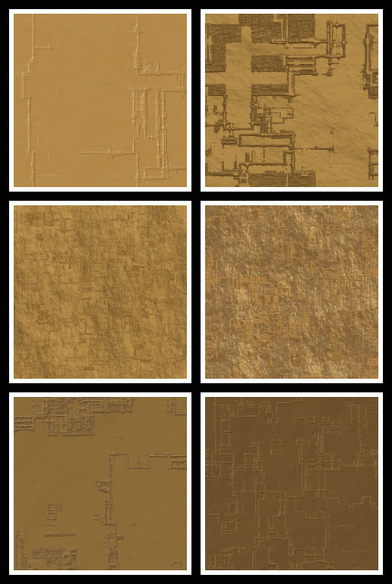 Desert Ruins seamless tiling patterns