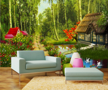Nature in 3d for your interior walls for 3d interior wall murals