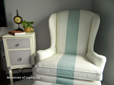 diy painted striped chair makeover