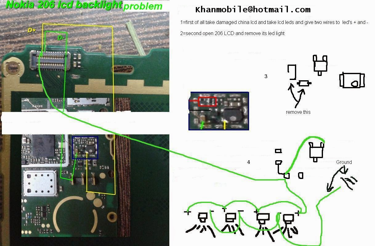Nokia 206 Lcd Light Problem Not Working Solution