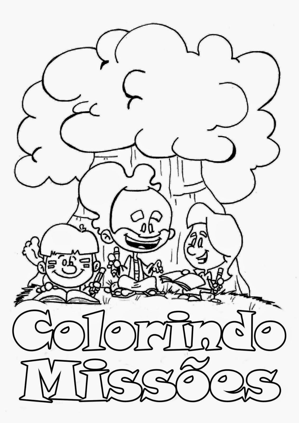 Muito Webservos : Estudos : COLORINDO MISSÕES- Revista infantil gratuita  RQ98