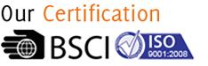 ISO 9001:2008 BSCI Vijay Enterprises Garment Exporters Chennai India