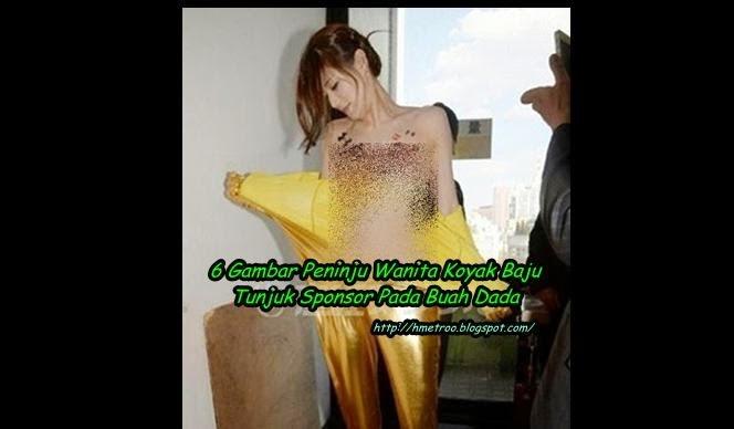 MESTI TENGOK Peninju Wanita Dedah Bahagian Dadanya Untuk Pamer Iklan Sponser 6 Gambar