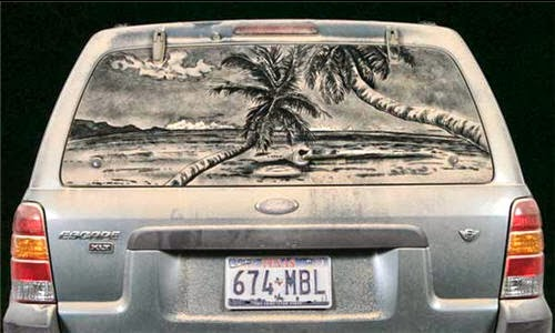 Escape: to the Beach - Scott Wade's Dirty Car Art