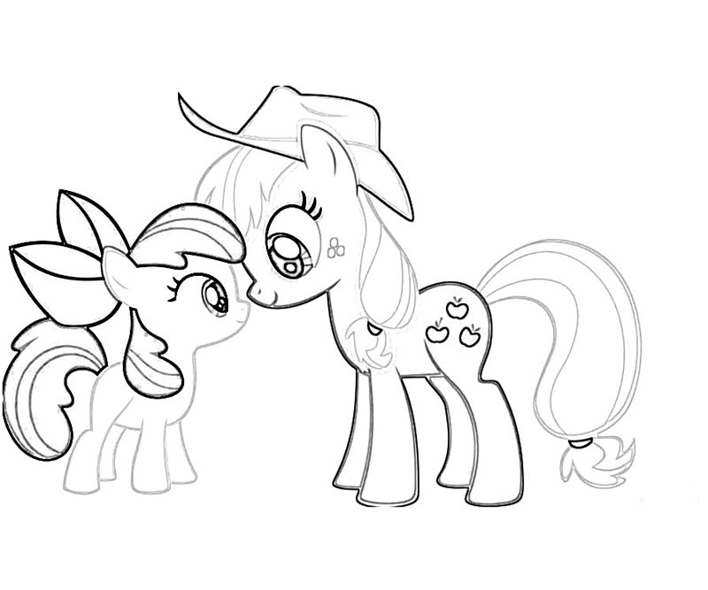 #39 My Little Pony Applejack Coloring Page