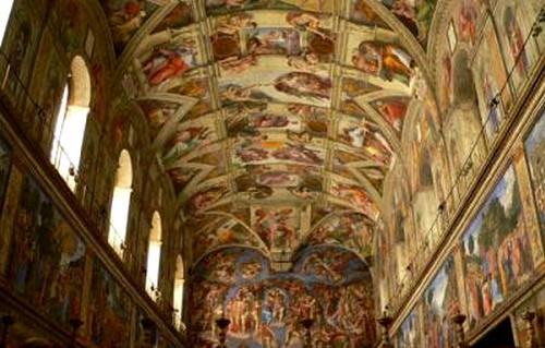 L art - Fresque du plafond de la chapelle sixtine ...