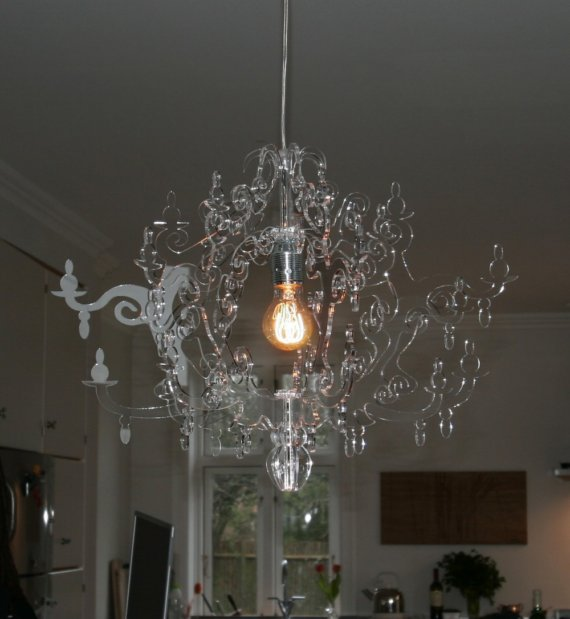 Red Acrylic Chandelier: 'LUSH' : Shining Light On Creative Talent
