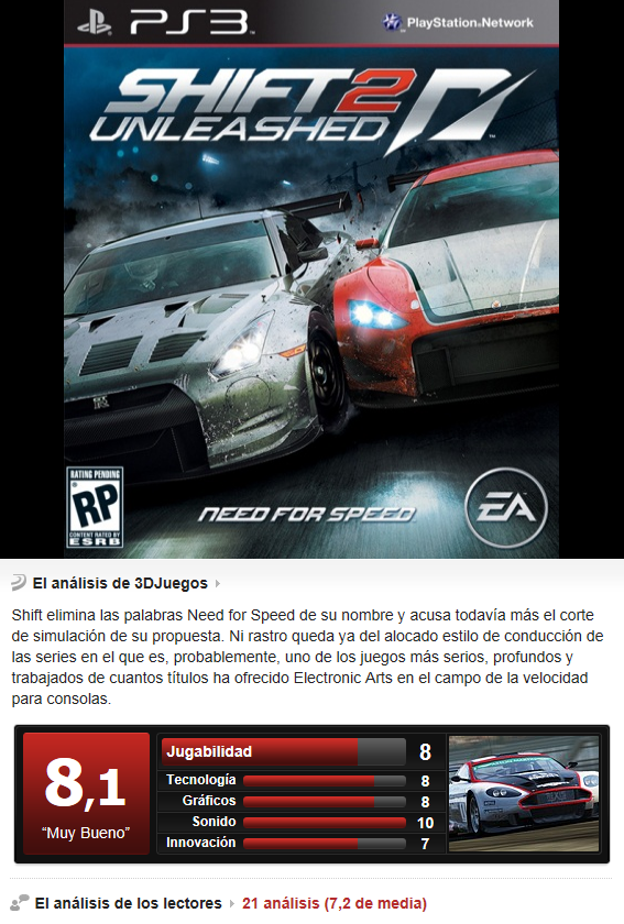 Need For Speed Shift 2 Unleashed [PS3][Multi][3.55]