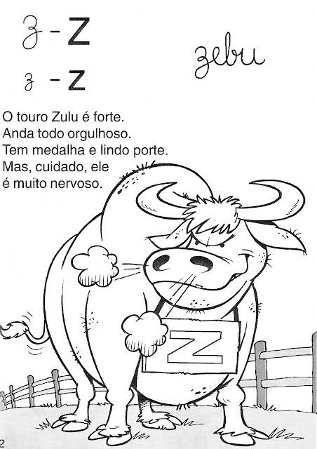 Atividades de Alfabetização coma letra Z