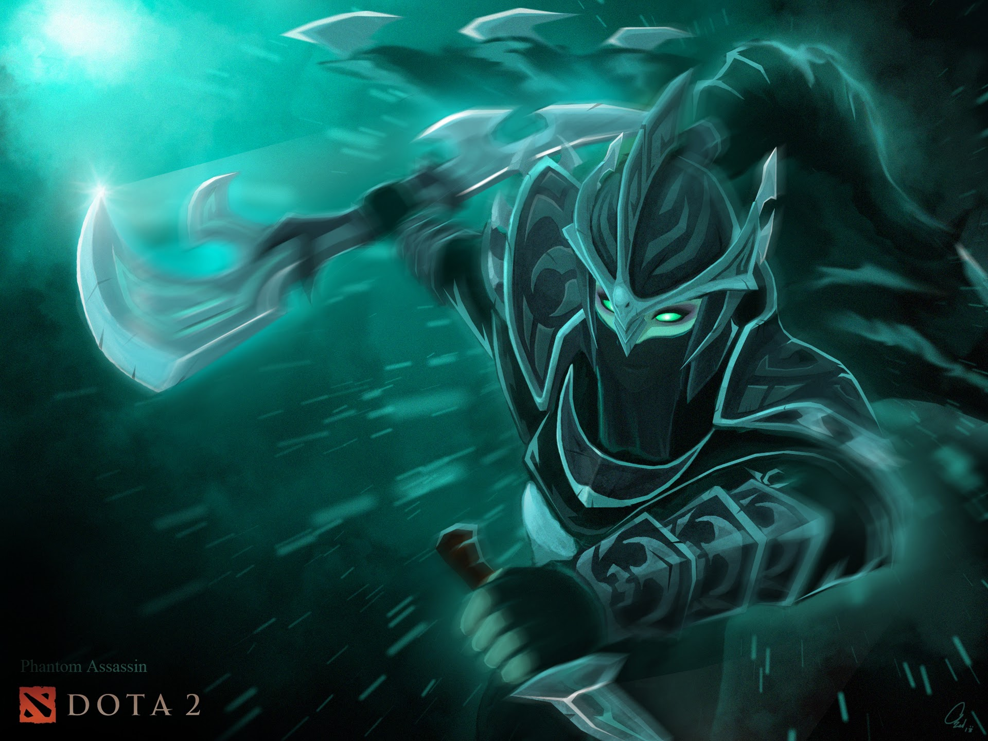 Phantom Assassin DOTA 2 w2 Wallpaper HD