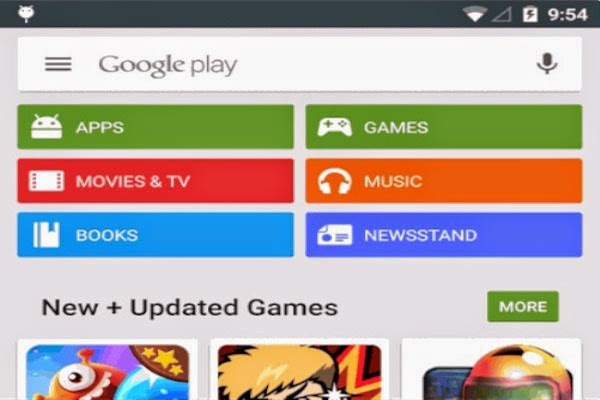 Google Play Store will be updated new interface